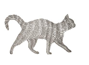 Tom and Bobby's Tabby Cat, commission, drawing made out of the cat onwer's names.