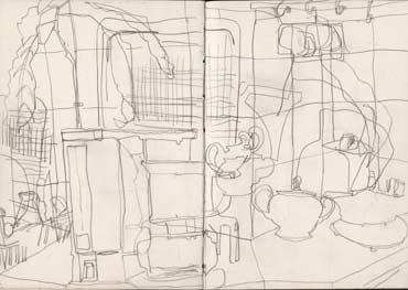 Sketchbook A5-01, 05. Line drawing (domestic objects).